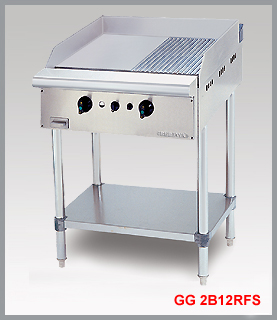 STAINLESS STEEL GAS GRIDDLE (HALF RIBBED) GG2B12RFS